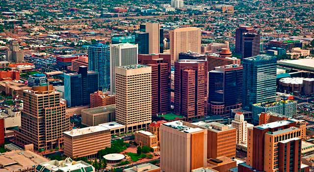 PHX Airport is located 3 miles east of downtown Phoenix.
