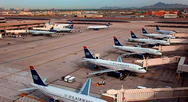 Phoenix Airport (IATA: PHX) is the busiest airport in Arizona.